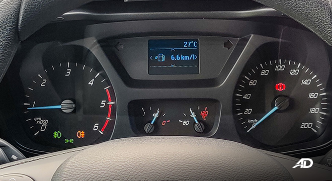 ford transit review road test instrument cluster interior