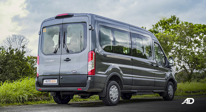 ford transit review road test rear quarter exterior philippines