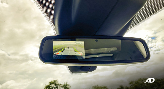 ford transit review road test rear view mirror interior