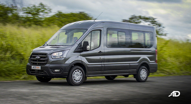 ford transit review road test rolling shot exterior