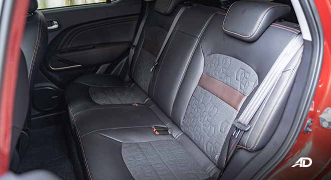 gac gs3 road test 1.5 rear cabin interior philippines