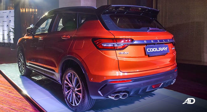 Geely Coolray exterior rear philippines