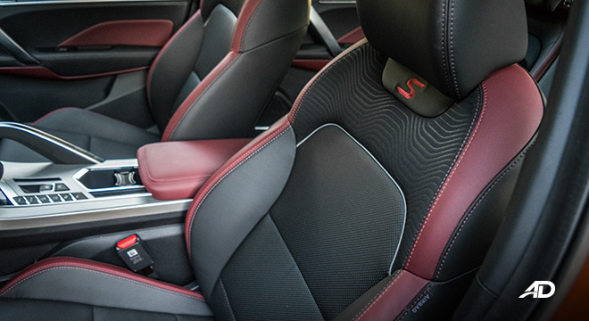 geely coolray road test review leather seats interior philippines