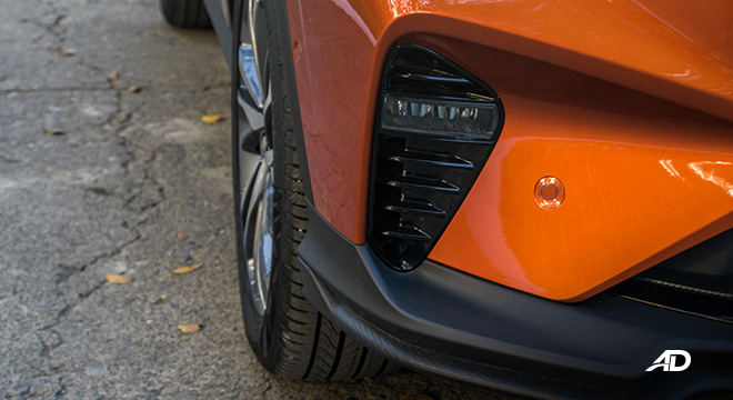 geely coolray road test review LED fog lamps exterior