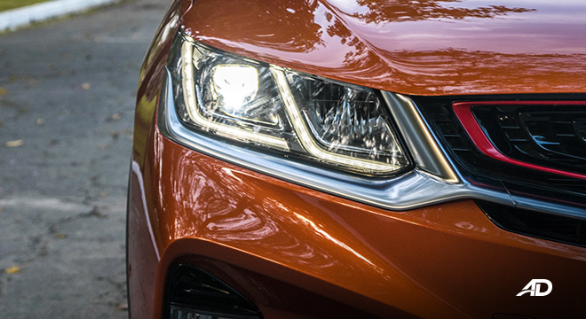geely coolray road test review LED headlights exterior philippines
