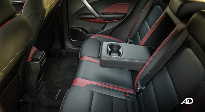 geely coolray road test review rear cupholders interior philippines