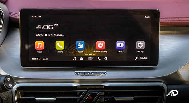 geely coolray road test review touchscreen infotainment system interior