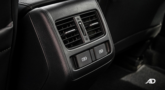honda accord interior rear vents