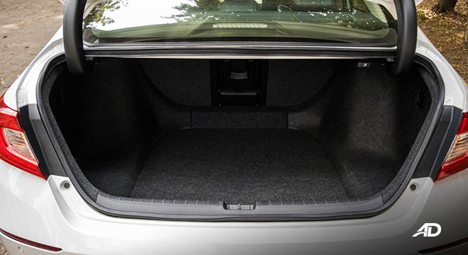 honda accord review road test trunk cargo interior