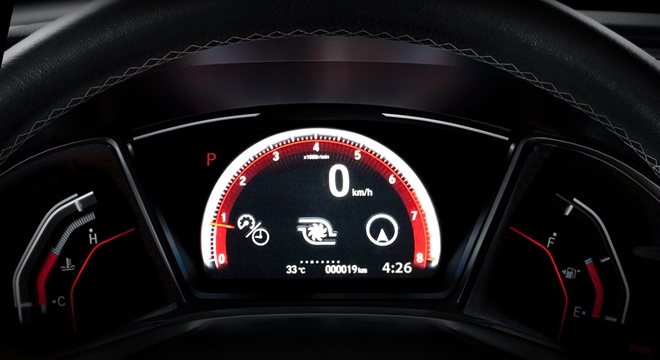 Honda All-New Civic 2018 instrument cluster