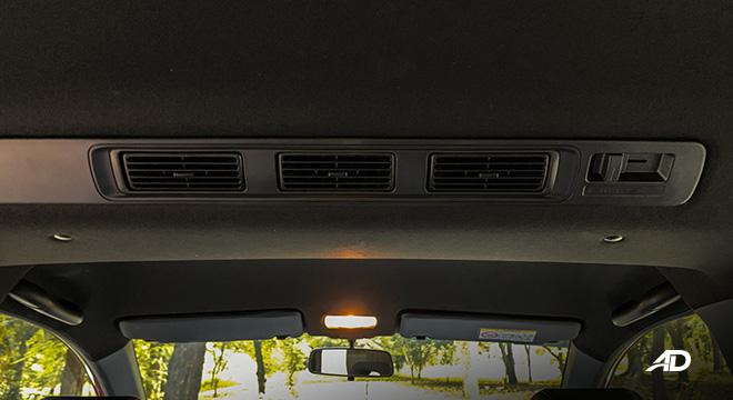 honda br-v road test review rear air-con interior