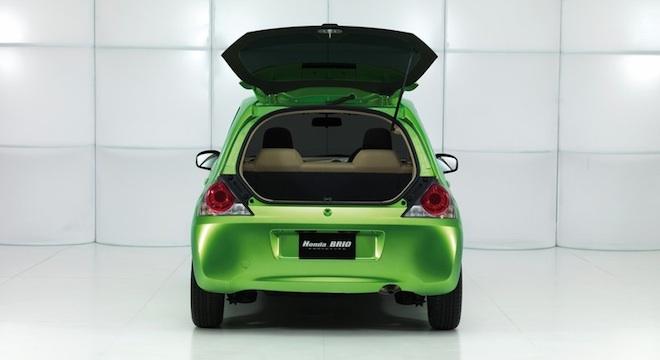 Honda Brio 2018 trunk