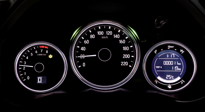 Honda City 2018 instrument cluster