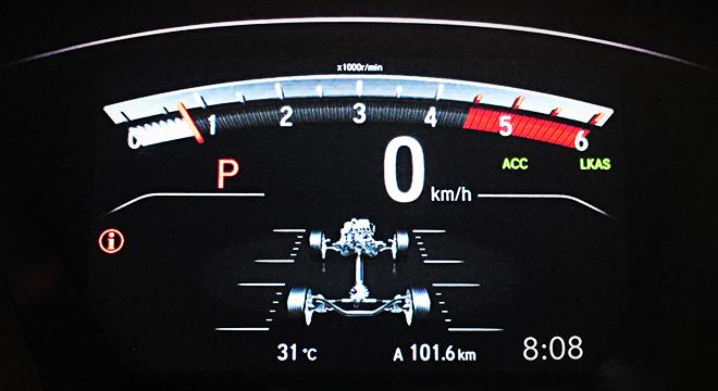Honda CR-V 2018 instrument cluster