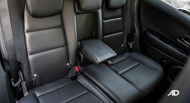 honda hr-v review road test rear cabin armrest interior