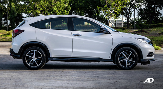 honda hr-v review road test side view exterior philippines