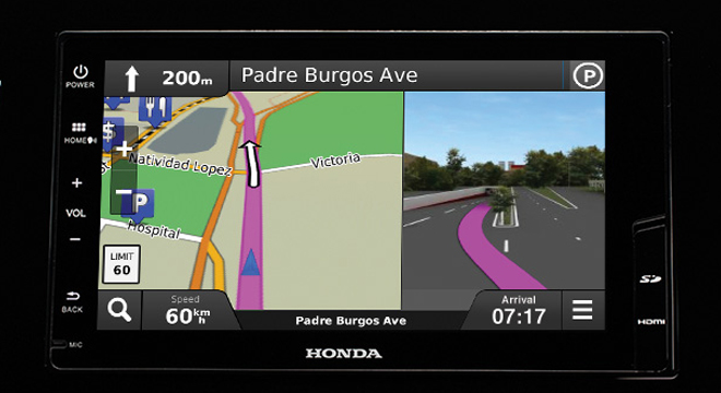 Honda Jazz 2017 navigation