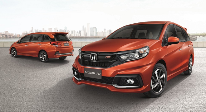 Honda Mobilio 2018 front and rear