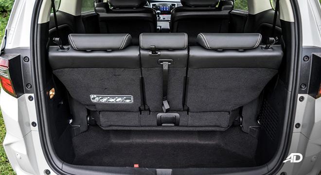 honda odyssey review road test trunk cargo interior