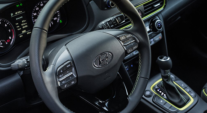 Hyundai Kona 2018 steering wheel
