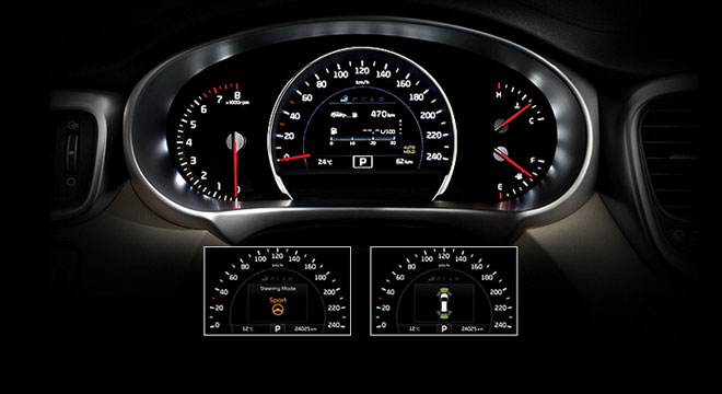 Kia All-New Sorento 2018 instrument cluster