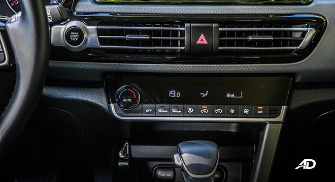 kia seltos review road test climate control interior