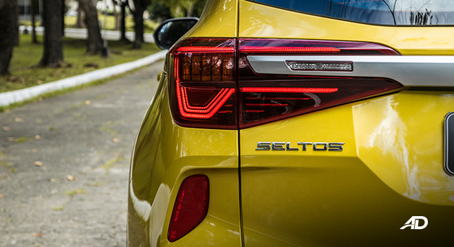 kia seltos review road test led taillights exterior philippines