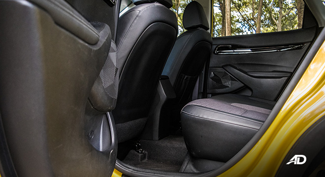 kia seltos review road test rear cabin legroom interior