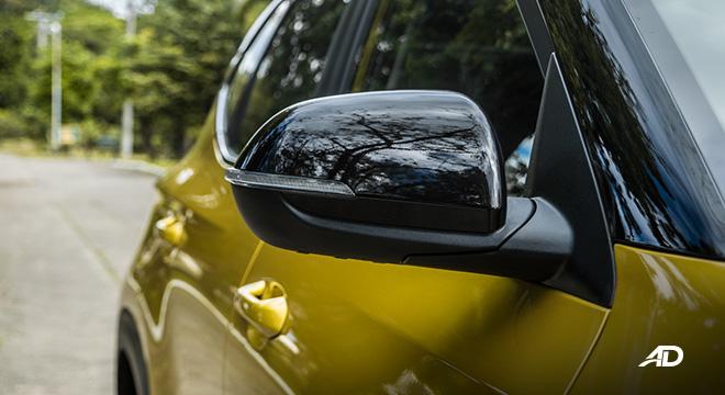 kia seltos review road test side mirror exterior