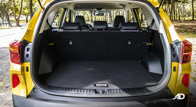 kia seltos review road test trunk cargo interior philippines