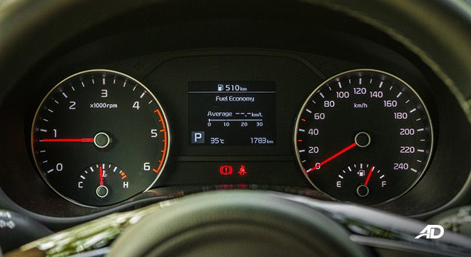 kia sportage review road test instrument cluster interior philippines