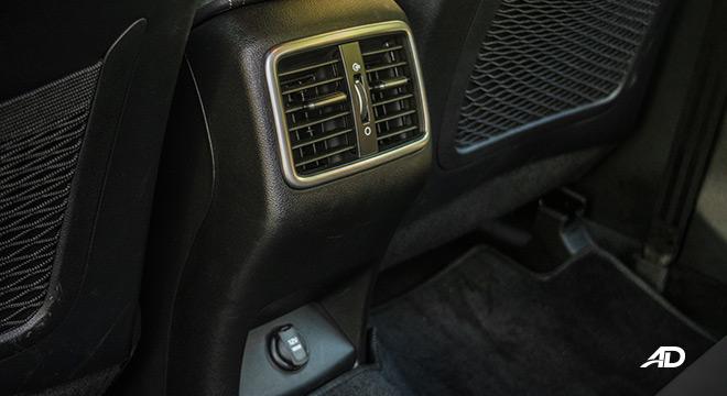 kia sportage review road test rear aircon vents interior