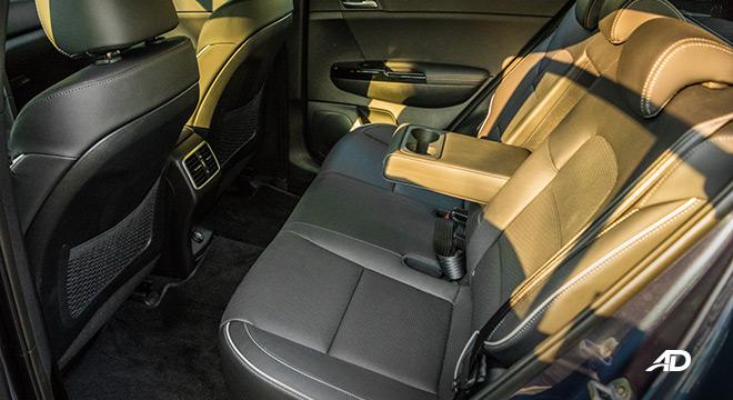 kia sportage review road test rear cabin interior philippines
