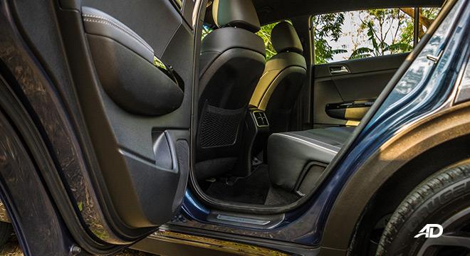 kia sportage review road test rear legroom interior