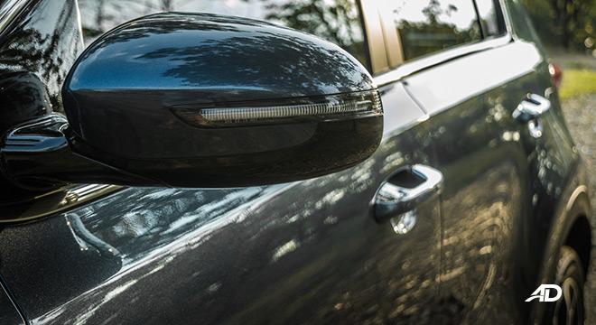 kia sportage review road test side mirror exterior