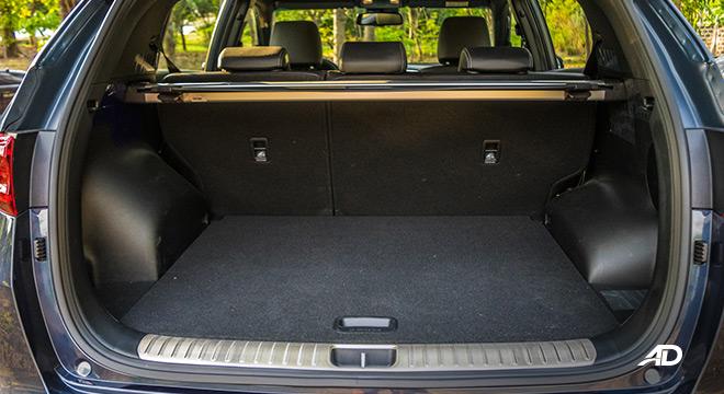 kia sportage review road test trunk cargo interior