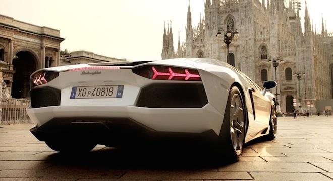 Lamborghini Aventador 2018 rear