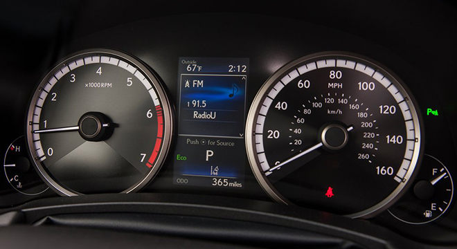 Lexus NX 2018 instrument cluster