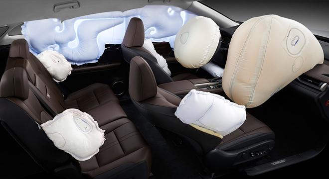 Lexus RX 2018 airbags