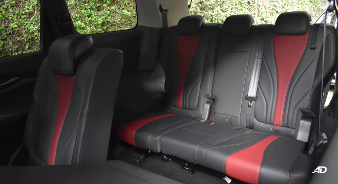 Maxus G50 third row seats