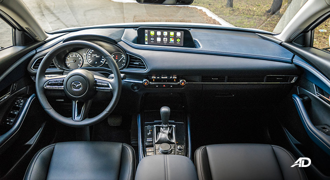 mazda cx-30 review road test dashboard interior philippines