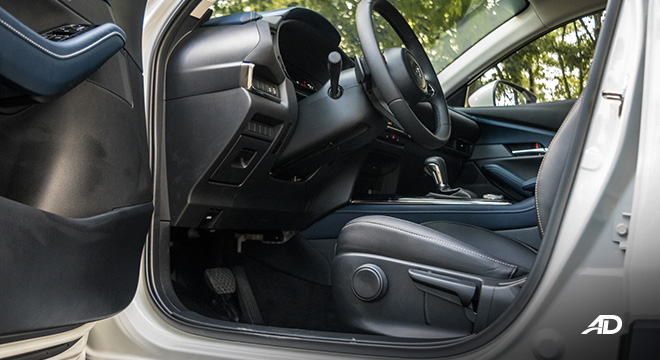 mazda cx-30 review road test front cabin legroom interior