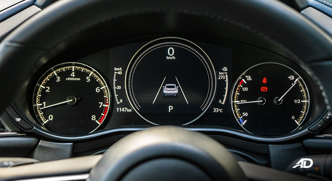 mazda cx-30 review road test instrument cluster interior