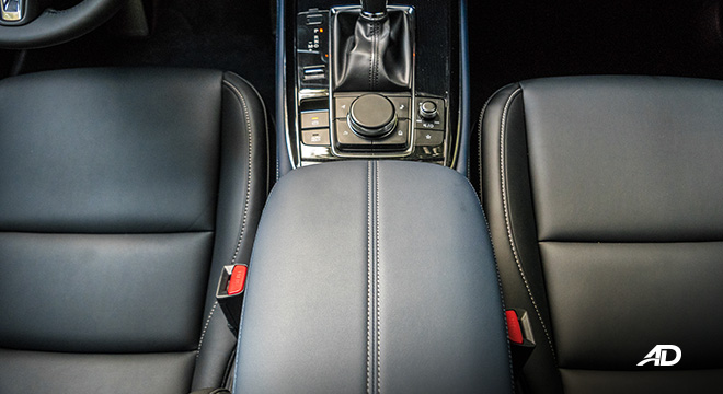 mazda cx-30 review road test leather seats interior