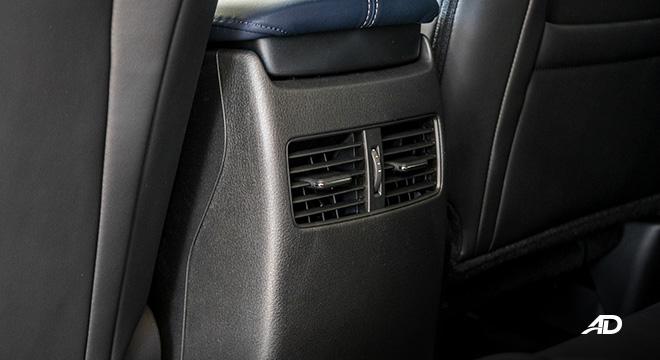 mazda cx-30 review road test rear aircon vents interior