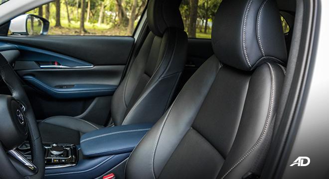 mazda cx-30 review road test seats interior