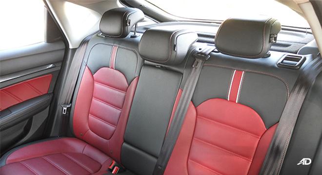 MG 6 rear seats