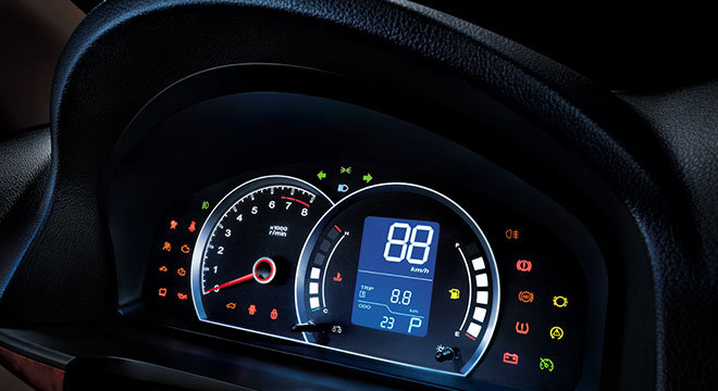 MG MG350 2018 instrument cluster