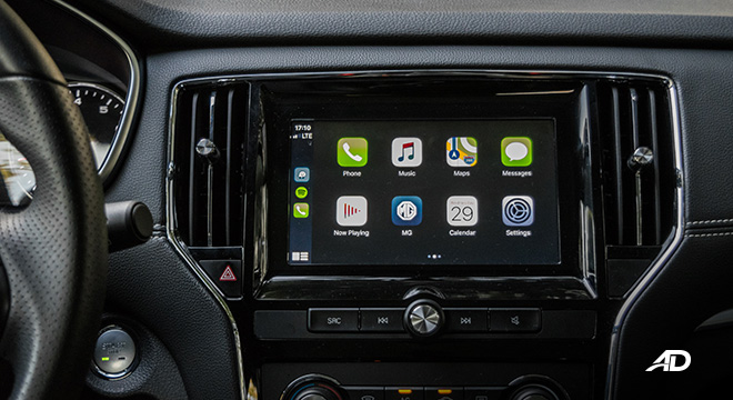mg rx5 review road test infotainment apple carplay interior philippines