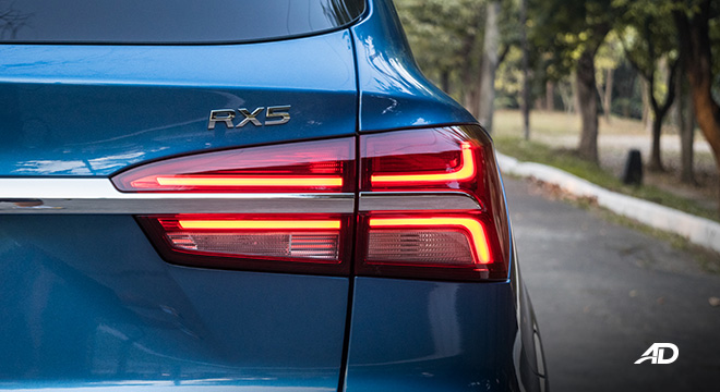 mg rx5 review road test led taillights exterior philippines
